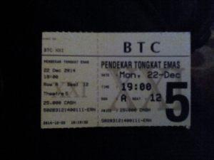 Tiket Nonton Pendekar Tongkat Emas BTC XXI 22 Desember 2014 19:00