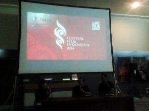 Sutradara Tabula Rasa saat sesi diskusi di Museum Konferensi Asia Afrika Bandung yang akhirnya mendapat piala citra kategori sutradara terbaik FFI 2014