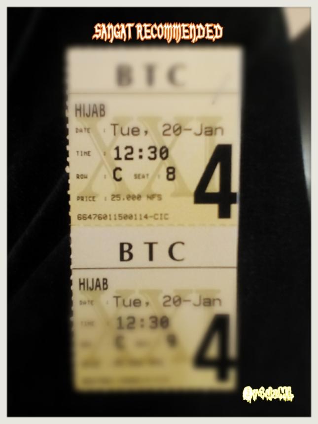 Tiket Nonton Film Hijab